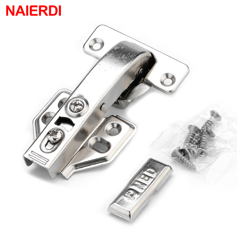 4PCS NAIERDI Hydraulic Hinge Angle 90 Corner Degree Fold Cabinet Door Soft Close Hinges Furniture Hardware For Kitchen Cupboard 2pcs 90 degree concealed hinges cabinet cupboard furniture hinges bridge shaped door hinge with screws diy hardware tools mayitr