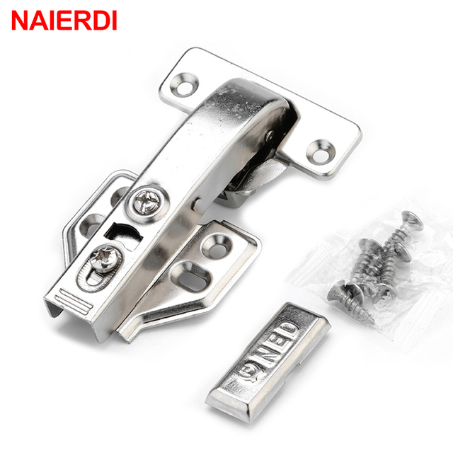 4pcs Naierdi Hydraulic Hinge Angle 90 Corner Degree Fold Cabinet Door Soft Close Hinges Furniture Hardware