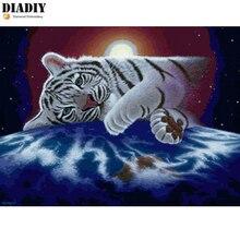 """Diadiy квадратная мозаика квадратный алмаз алмазная живопись 5D «сделай сам» фото на заказ """"маленький тигр"""" 3D вышивка крестиком мозаичный Декор подарок книги по искусству"""