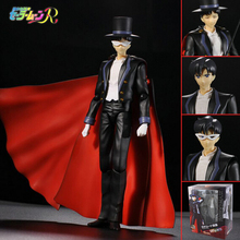 SHFiguarts Sailor Moon tuxedo mask chiba mamoru 20th pvc action figure collectible model toy 18cm anime kids model toy hot sale