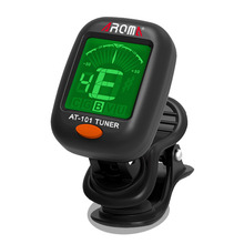 AROMA AT-101 Plastic Mini Size Clip Type Guitar Instrument Tuner Guitar Bass Ukulele Electrical Digital Clip Tuner free shipping