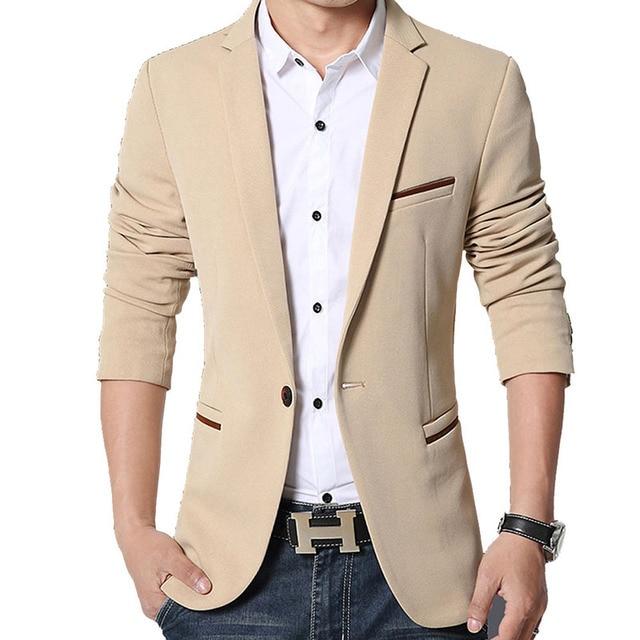 Brand Mens Casual Blazers Autumn Spring Fashion Slim Suit Jacket Men Blazer Masculino Clothing Vetement Homme M~5XL HF1415 6