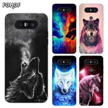Painted Pattern Soft Rubber TPU Case For LG Q8 Q7 Q6 G6 G7 G5 G4 V40 V30 V20 V10 Transparent Cover Starry animal wolf