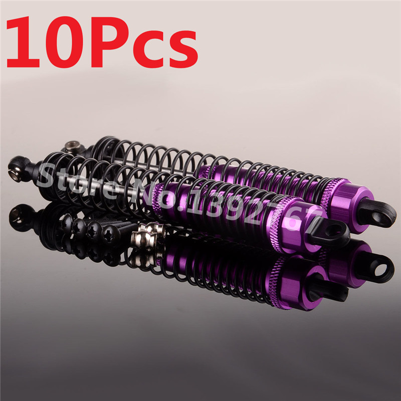 10Pcs RC Car Aluminum Front Shock Absorber 1/10 Scale Models Remote Control Cars R/C AXIAL SCX10 Yeti Rock Racer Crawler Truck
