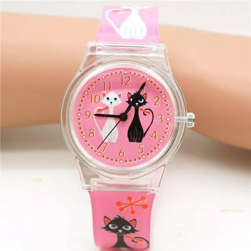 Women Brand Willis Fashionable Mini Watch Cat Design Water Resistant Analog Ultrathin Resin Band Wrist Watch