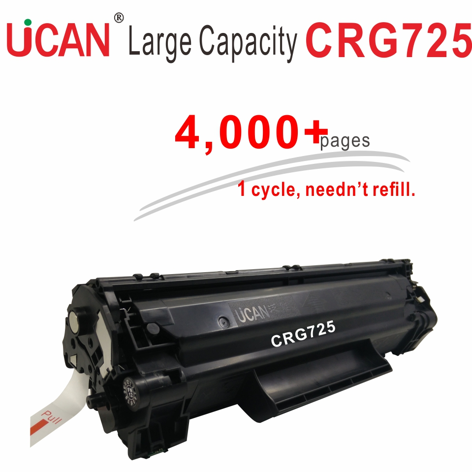 CRG 725  CRG725 for Canon LBP 6000 6018 6020  6030 6040 MF3010 Laser Toner Cartridge UCAN 4000 pages Large Capacity & Refillable toner for canon 331 131 y mf628cw mf 8210 cn 7110 c crg 531 bk crg131bk crg731 bk crg 931h drum cartridge toner cartridge powder