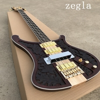 Custom Shop 4 String Bass Carving, Electric Guitar Bass, Gold Hardware, High Quality Guitar Free Shipping