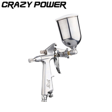 CRAZY POWER Professional Magic Spray Gun Sprayer Airbrush Atomizer Alloy Painting Pneumatic Tool With Hopper For Painting Cars