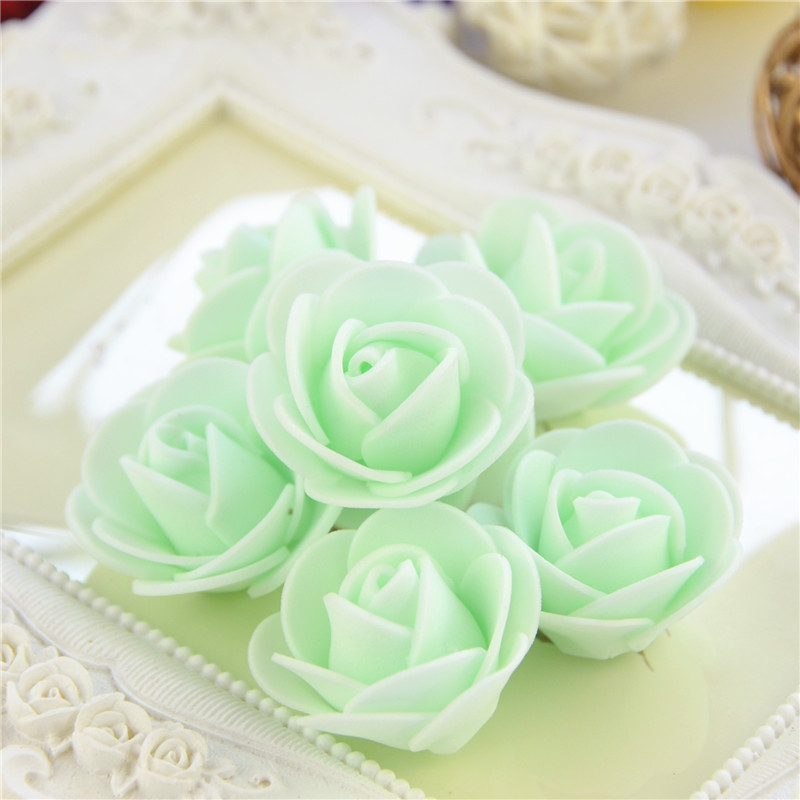 50pcs/Bag Multicolor Mini Rose Head Artificial Flowers For Wedding And Festival Party 26