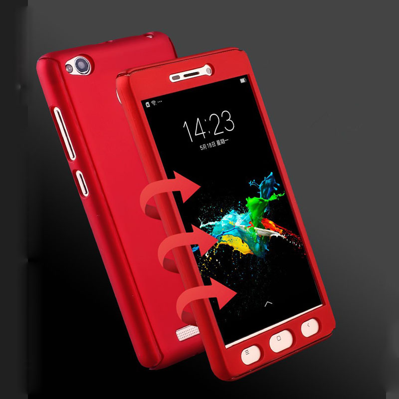 huge discount 95fb9 87a59 US $4.99 |360 Degrees Protective Case For Xiaomi Redmi 3s Tempered Glass  Front Back Full Body Cover For Xiomi Redmi 3 s Pro Prime Case Bag-in Fitted  ...