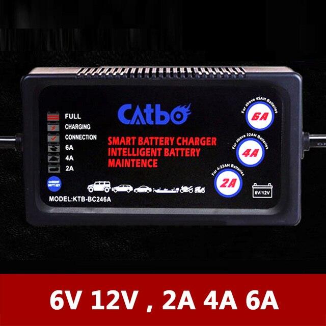 Automático 6 V 12 V eléctrico cochecito de bebé de la motocicleta del coche de la bicicleta, cargador de batería 2A 4A 6A para plomo y ácido AGM GEL baterías selladas