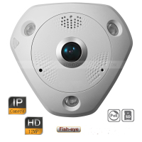 Original English DS 2CD63C2F I HD 12MP IP Network IR Panorama Multiple Viewing Fisheye Camera PoE