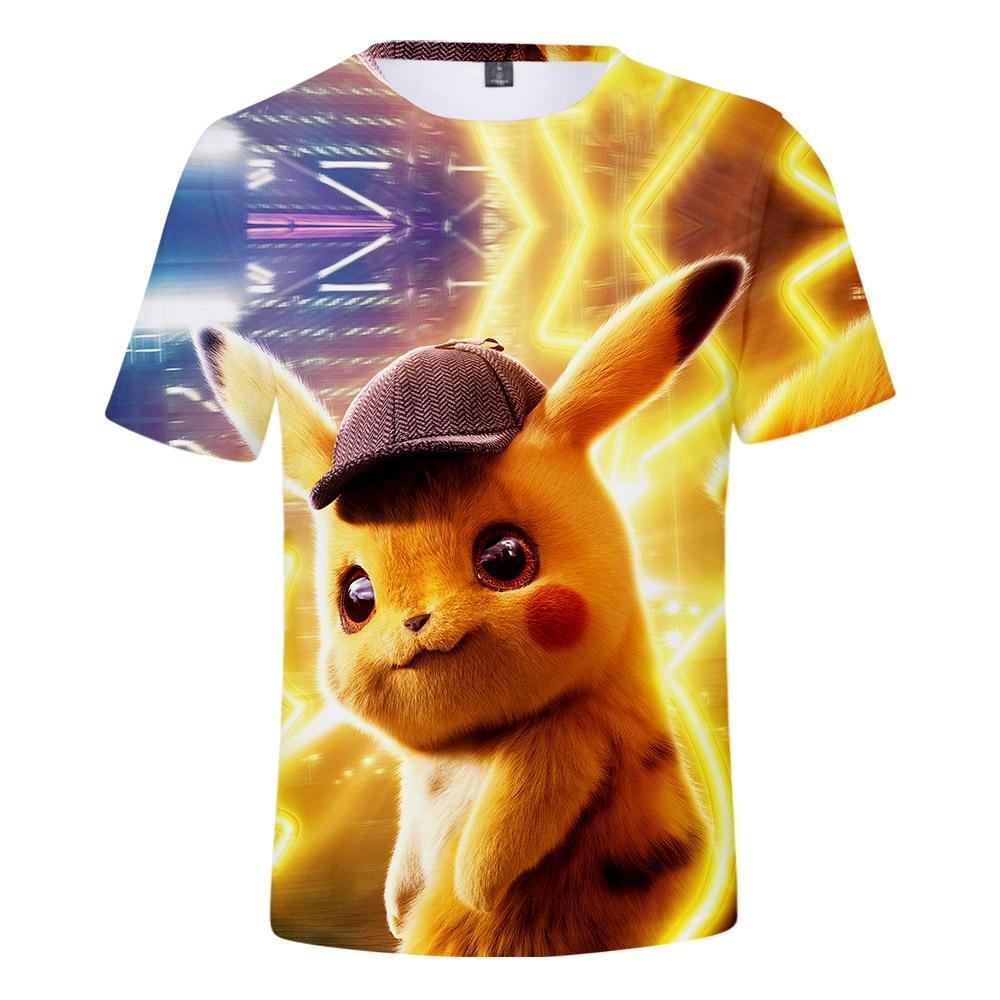 Pokémon Detective Pikachu T-shirt Funny Graphics Hoodie Fashion Tumblr Tops Gift