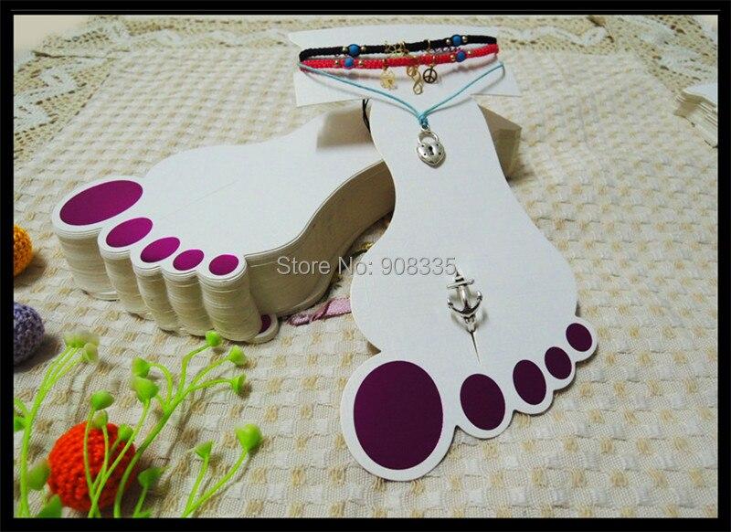 Fashion 2in1 Multifonction Foot Shape Anklet Holder Feet