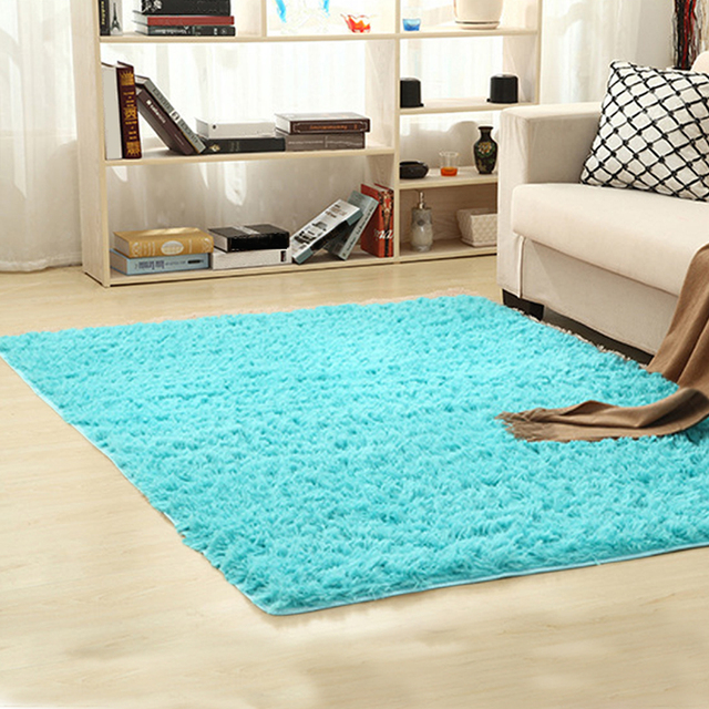 Soft Shaggy Carpet For Living Room European Home Warm Plush Floor