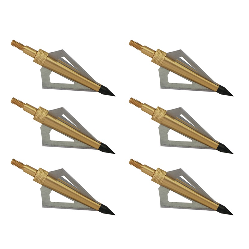 Image 5 - 12Pcs 125 Grain 3 Fixed Blade Archery Broadheads Arrow Head Hunting Arrow Tips Golden for Compound Bow and Crossbow-in Bow & Arrow from Sports & Entertainment