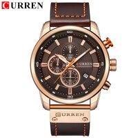 CURREN 8291 Fashion Brand Luxury watch men date display Leather creative Quartz Wrist Watches relogio masculino 2018
