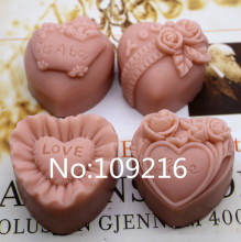 New Product!!1pcs Four Style Flowers (zx224) Food Grade Silicone Handmade Soap Mold Crafts DIY Mould