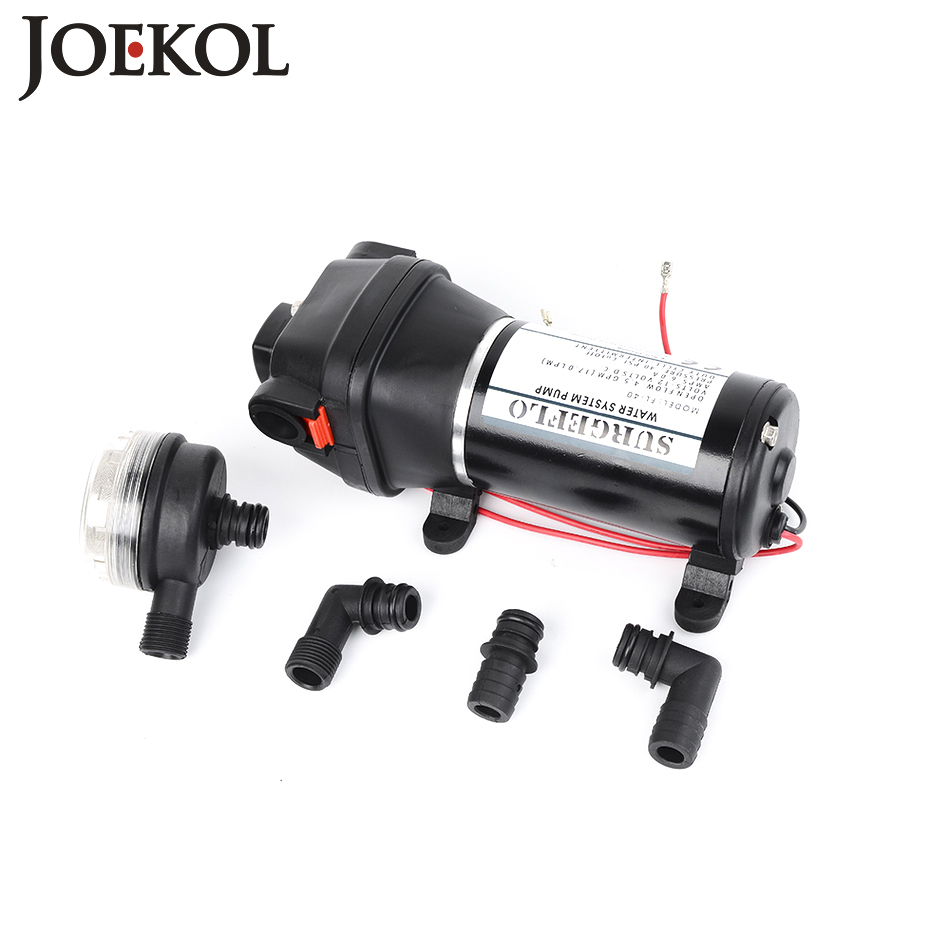 FL-100 DC 12V/24V Submersible Water Pumps Self-priming Diaphragm Pump 100PSI Flush Pump for Yacht/Automotive 60m lift fl 40 fl 44 12v 24v dc mini submersible low electric diaphragm pump 25m lift high pressure water pumps self priming