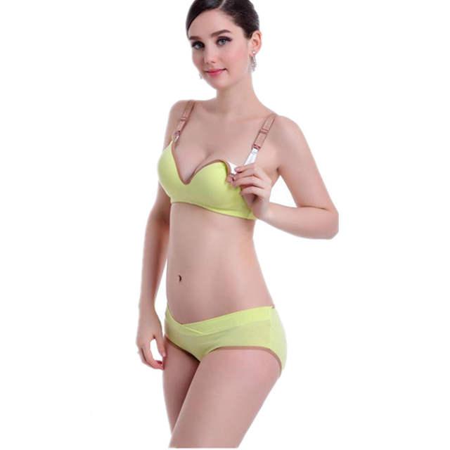 a41daa05c placeholder Mulheres grávidas Cueca conjunto de Sutiã e calcinha conjunto  de Enfermagem da Maternidade sutiãs de amamentação