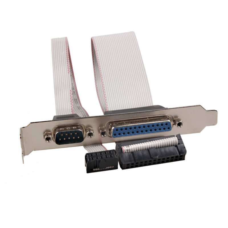 For PCI Slot Header Serial DB9 Pin COM with Parallel DB25 Pin LPT Cable with Bracket for Parallel LPT Printer COM Serial Port motherboard db25 1 port serial parallel pci slot header cable bracket lpt 25pin