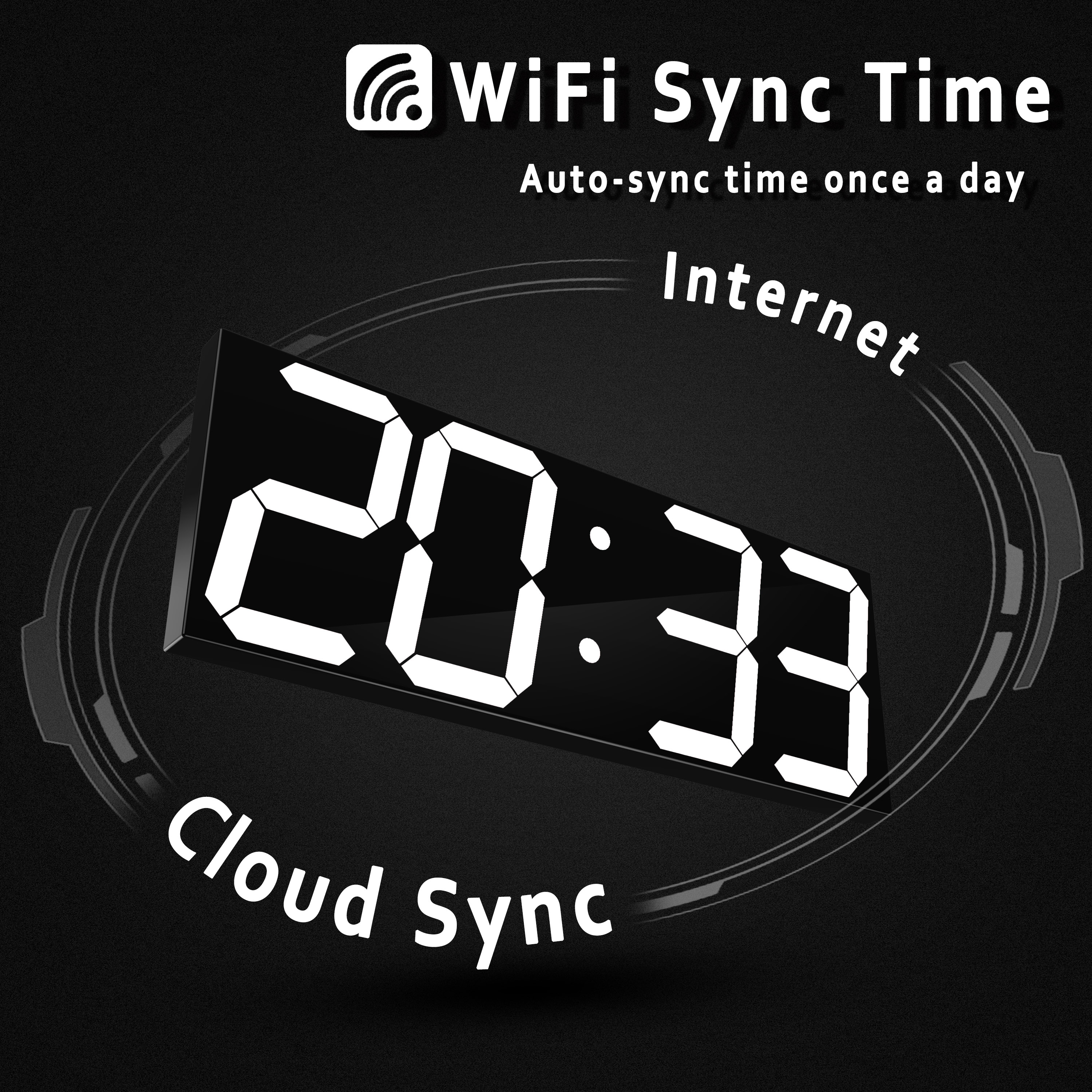 HOT HOT HOT WIFI Wall Clock Home Living Room Modern Minimalist Atmosphere Clock Wood Clock Mute Creative Bedroom Clock