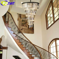 FUMAT Modern Crystal Chandelier Living Room Lamp Pendant Lamp lustres de cristal indoor Lights Crystal Pendants for Chandeliers