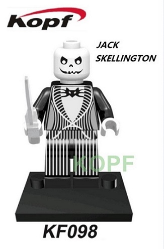 KF098 Single Sale Super Heroes Jack Skellington Bruce Banner Creepy Doll Building Blocks Bricks Education Toys for children Gift single sale pirate suit batman bruce wayne classic tv batcave super heroes minifigures model building blocks kids toys gifts