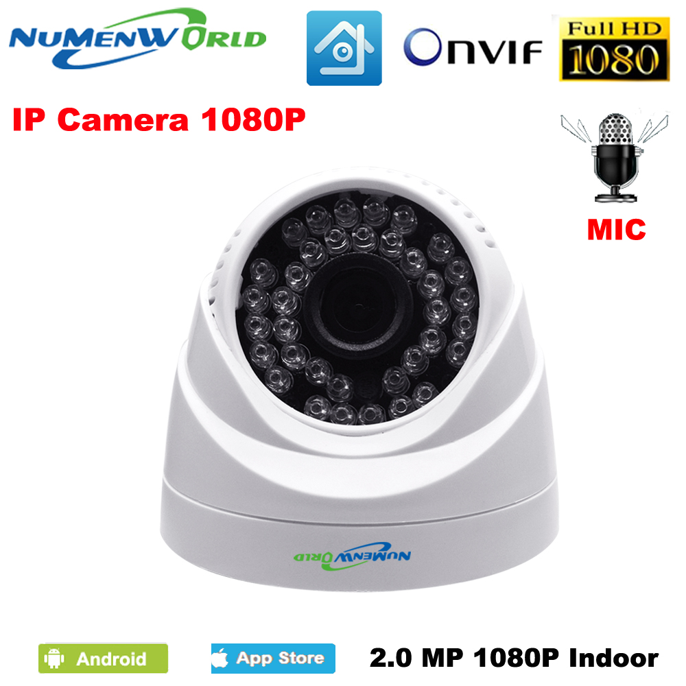 2.0MP network IP cam 1080P HD Built-in microphone CCTV Video surveillance dome security IP camera ONVIF day/night indoor webcams