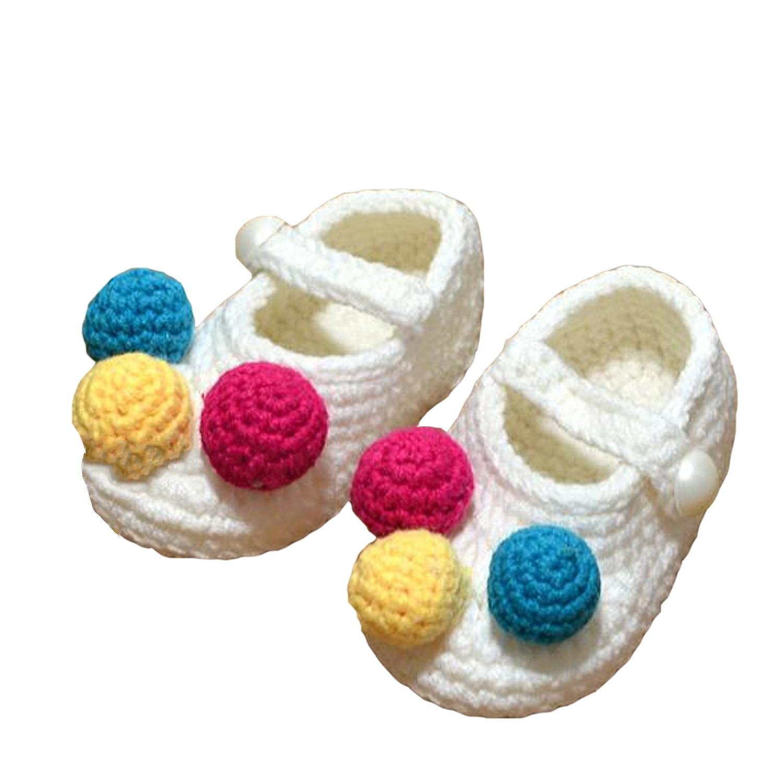 Review 1 Pair Baby Sepatu Kerajinan Tangan Wol Rajutan Crochet Newborn Bootee For 12 Bulan Bayi Putih 12 Yard Intl Di Tiongkok