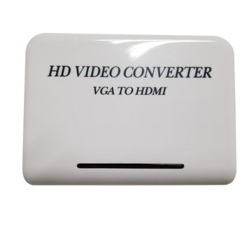 VGA to HDMI Adapter HDTV 1080P HD Video Converter Adapter for Computer PC Notebook DVD and game console  conversion Converters