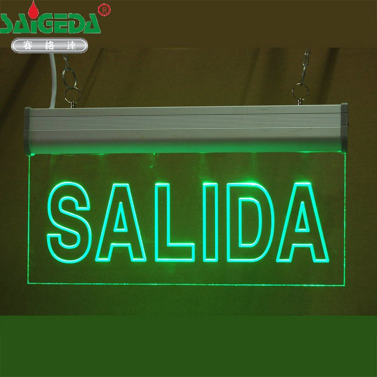 Customize Pattern Buyer Provides Text Emergency Fire Lamp Led Indicator Light Exit Acrylic Tag Double-sided Printing Lights & Lighting