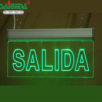customize pattern Buyer provides text EXIT Acrylic carving LED lamp Fire emergency indication board Arrow Evacuation sign Tag