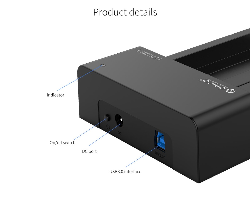 Orico 6619sus3 Usb 3 0 Esata To Sata External Hard Drive Docking 6218us3 Usb30 Station For Hdd Or Ssd 25inch 35inch 6518us3 V2 Super Speed 30 Untuk 25 35