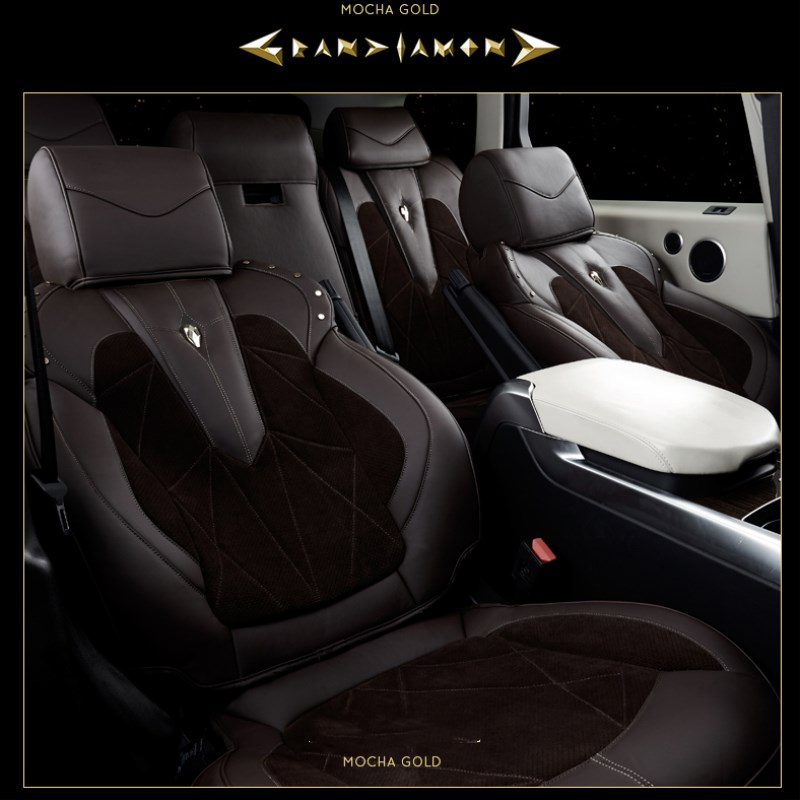 Luxury Classic Design Genuine Leather Car Seat Covers For Range