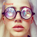 Aimade 2017 Nova Moda Rodada Óculos De Sol Dos Homens Das Mulheres Festa de Celebridades Designer Eyewear Colorido Caleidoscópio Caleidoscópio Óculos