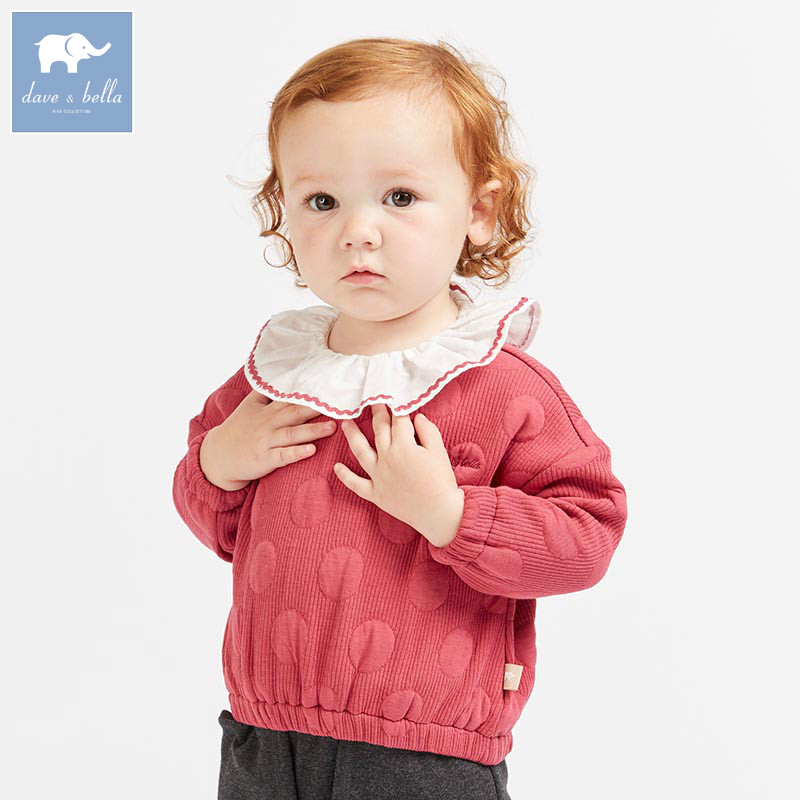 DBM8625 dave bella autumn baby girls lovely long sleeve t-shirt children boutique tees infant toddler tops db2588 dave bella autumn unisex infant baby girls boys fashion t shirt kids cotton lovely tops children high quality tee