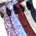 2016 new Polyester cashew flower paisley pattern classic 18 colors Men's tie 12