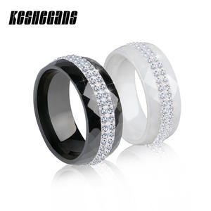 TUHE Ceramic Ring Black Color For Women Jewelry Wedding
