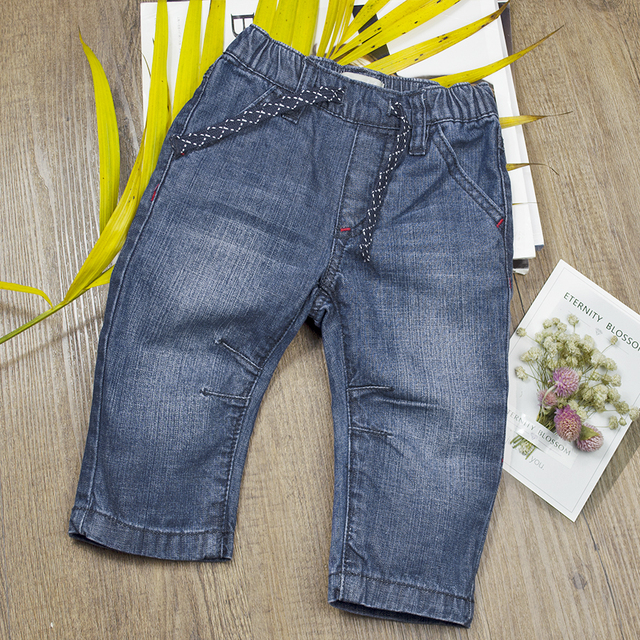 12c54de51 2017 Infant Baby Boys&Girls Spring Jeans Denim Pants Newborn Soft Elastic  Waist Pants Cool Jeans Solid Trousers Toddler Clothes