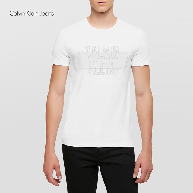Calvin Klein Jeans / CK 2017  New Men's Casual Simple Cotton O-Neck Short Sleeve T-shirt Men Classic Leisure Tops Tees 4AFKN61