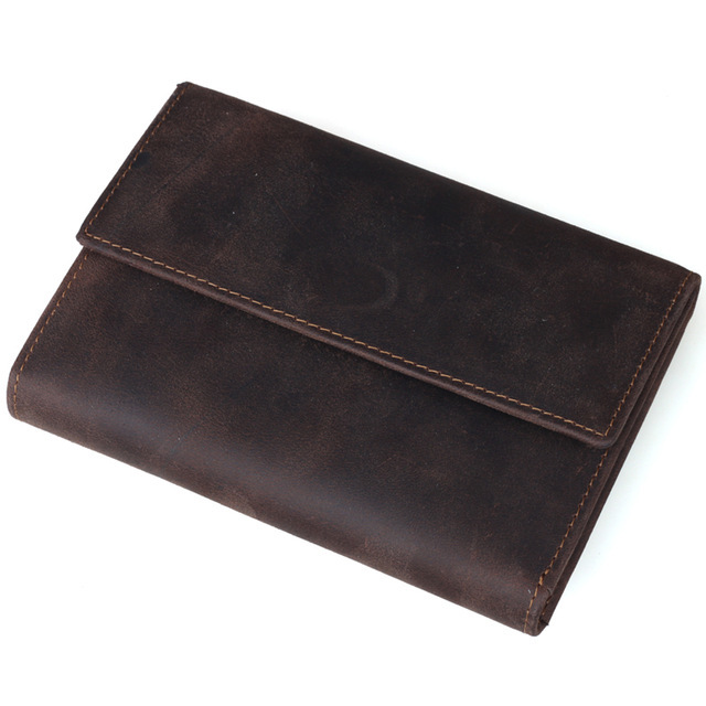 Tiding Genuine Crazy Horse Leather Men Wallet Retro Style Cowhide Leather Short Purse Card Holder Coin Pouch 2016 New Free Ship gathersun the secret life of walter mitty retro wallet handmade custom vintage genuine wallet crazy horse leather men s purse