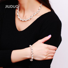 JIUDUO Quality female models natural freshwater pearl necklace luxury piece suit fitted to ensure special offer free shipping