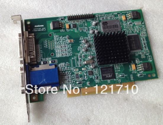 MATROX PCI INTERFACE GRAPHICS CARD F7003-0301 REV A ETON ET866 g45fmdvp32db 32m pci card f7003 0301 100