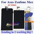 Alta qualidade da tela de toque e display lcd digitador assembléia para asus zenfone max zc550kl 5.5 polegadas celular cor preto