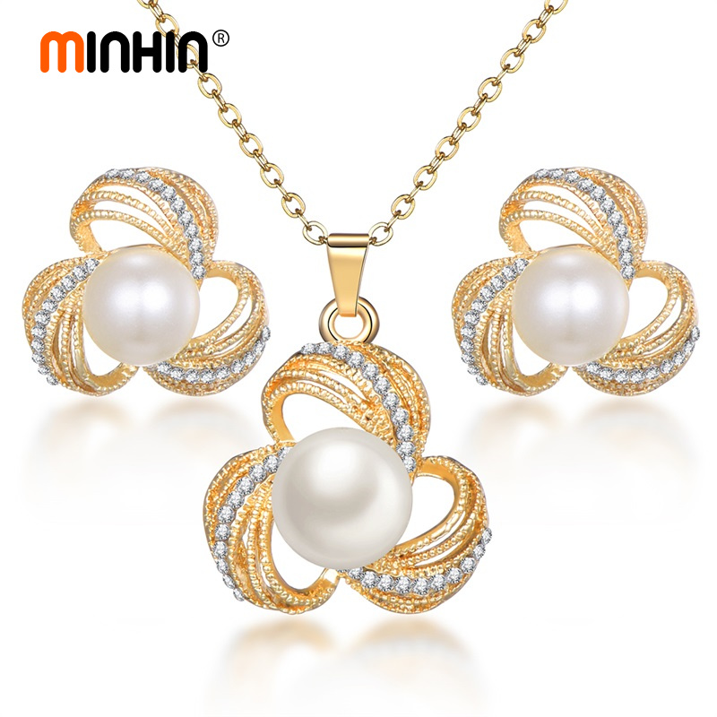 MINHIN Ladies Pearl Sets...