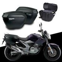 for YAMAHA FAZER YS250 YS 250 SHAD SH23 Side Boxs+Rack Set Motorcycle Luggage Case Saddle Bags Bracket Carrier