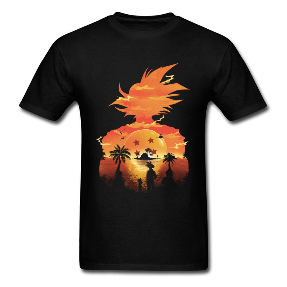 Latest Nice T Shirt Japan Roppongi Beautiful Sunset Goku Tshirts Dragon Ball Illustration 100% Cotton Mens Tops Shirt Best Gift