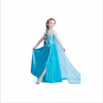 2cd5fc088c My Baby Girl Fashion Cotton Dress Children Clothing Girls Pony Dresses Elsa  Anna Party Dresses Princess Costume Kids Clothes