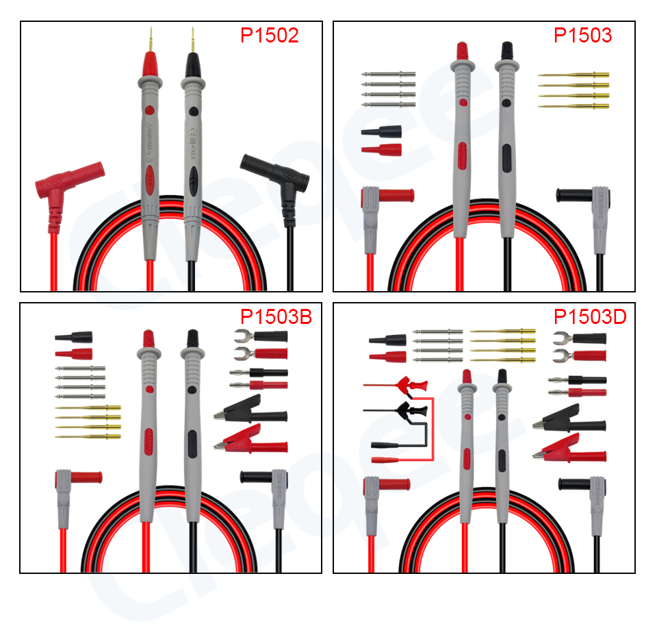 HTB1 wvYXfjsK1Rjy1Xaq6zispXau Cleqee Multimeter probes replaceable needles test leads kits probes for digital multimeter cable feeler for multimeter wire tips